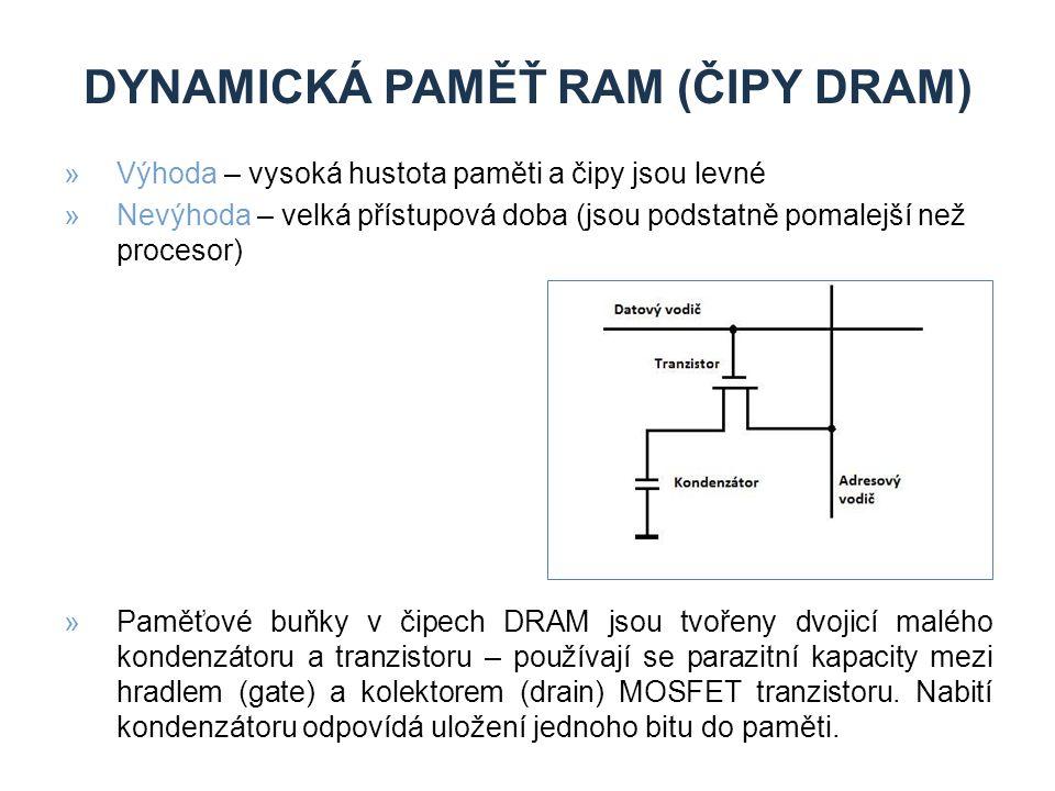Dynamická paměŤ RAM (čipy dram)