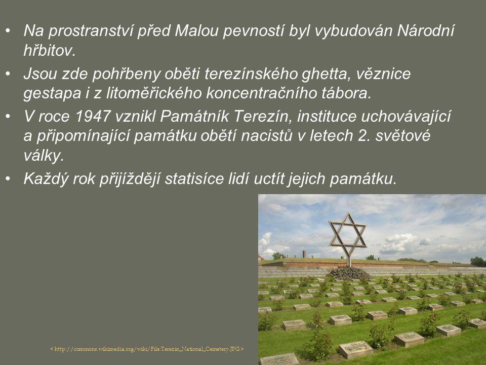 Na prostranství před Malou pevností byl vybudován Národní hřbitov.
