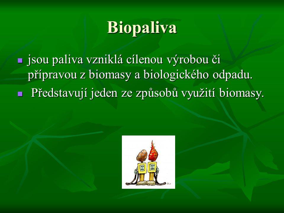 Biopaliva jsou paliva vzniklá cílenou výrobou či přípravou z biomasy a biologického odpadu.
