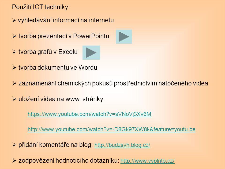 tvorba prezentací v PowerPointu tvorba grafů v Excelu