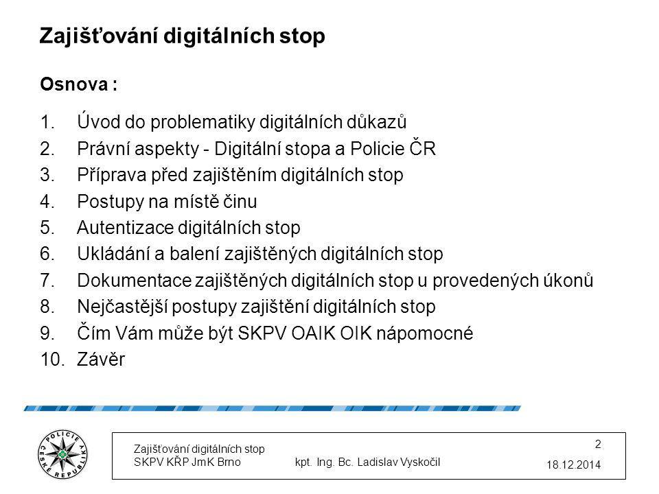Zajišťování digitálních stop