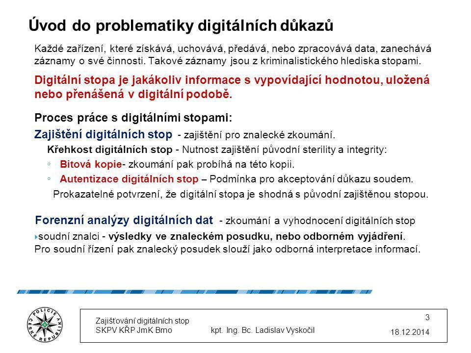 Úvod do problematiky digitálních důkazů