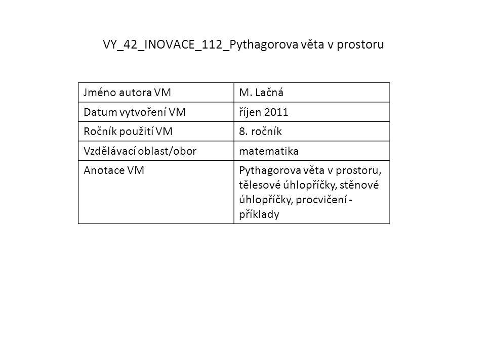 VY_42_INOVACE_112_Pythagorova věta v prostoru