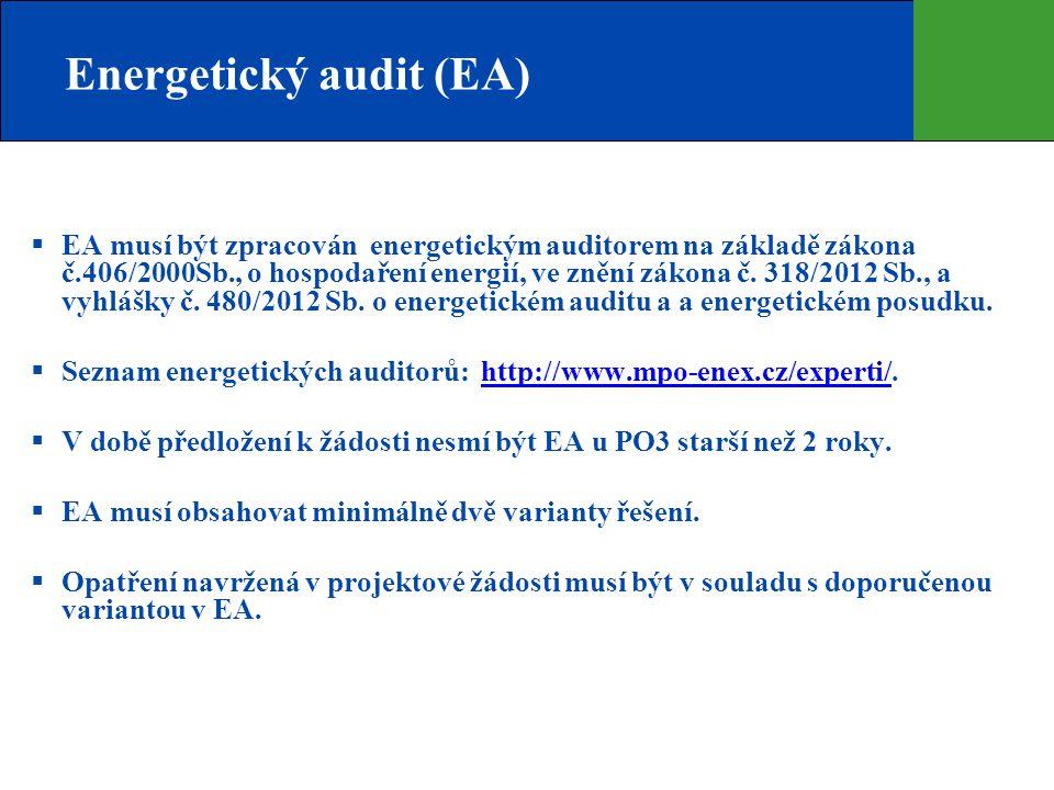 Energetický audit (EA)