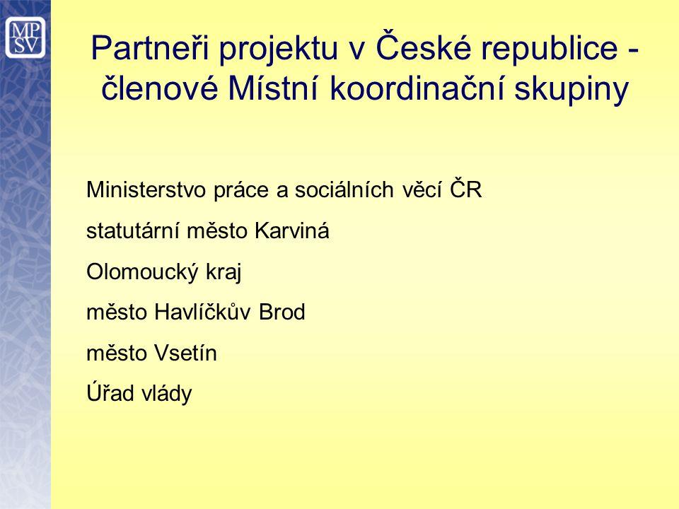 Partneři projektu v České republice - členové Místní koordinační skupiny