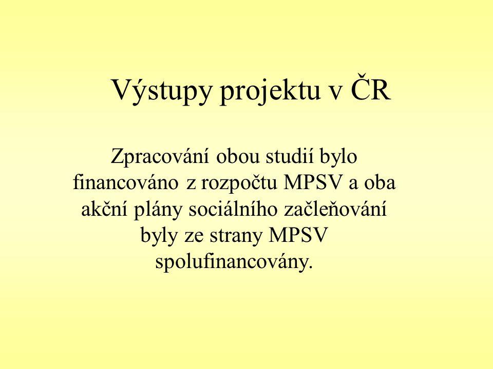 Výstupy projektu v ČR