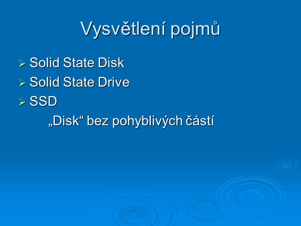 Vysvětlení pojmů Solid State Disk Solid State Drive SSD