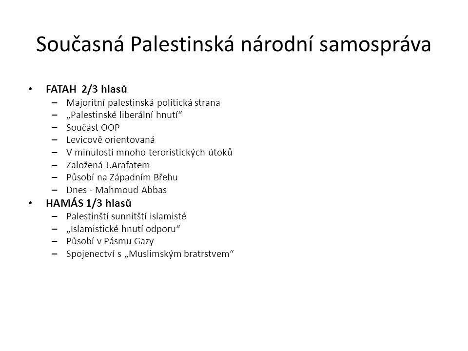 Současná Palestinská národní samospráva