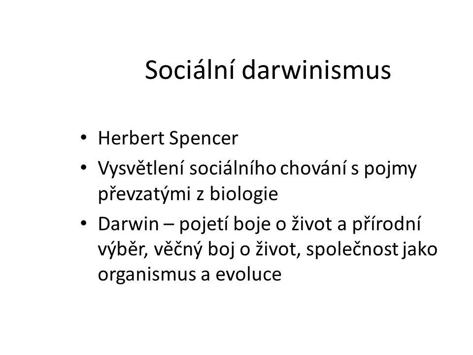 Sociální darwinismus Herbert Spencer