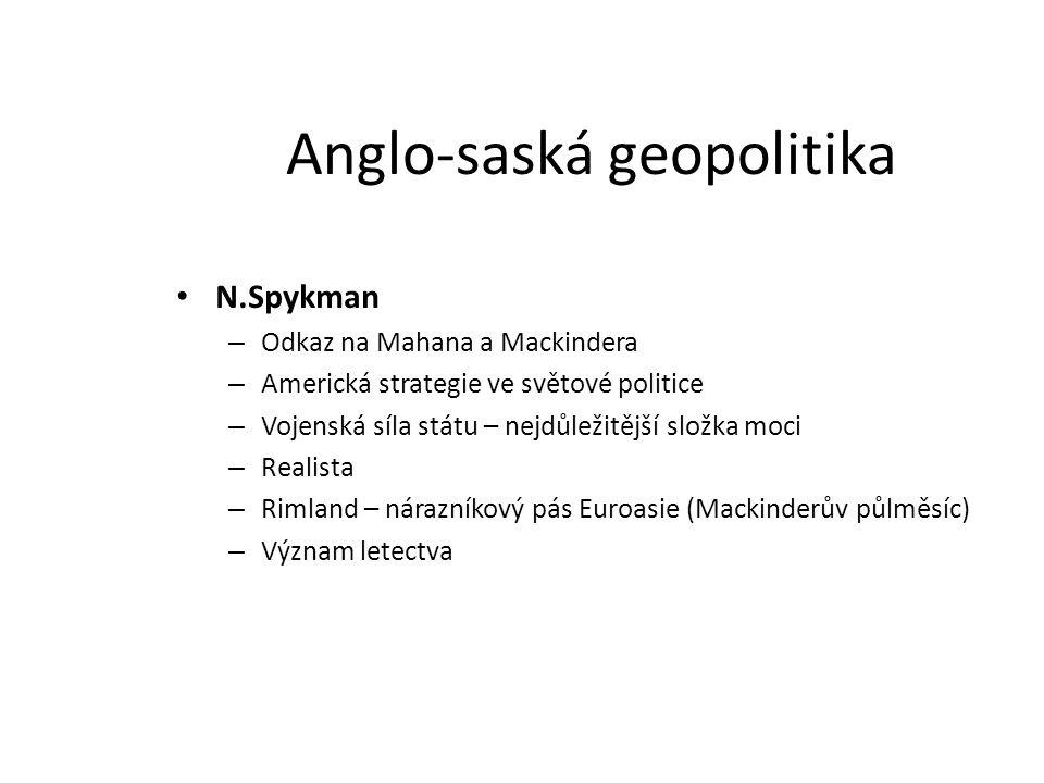 Anglo-saská geopolitika