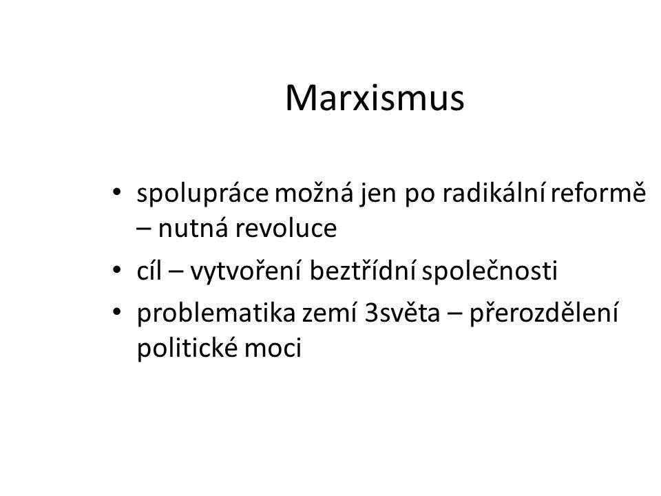 Marxismus spolupráce možná jen po radikální reformě – nutná revoluce