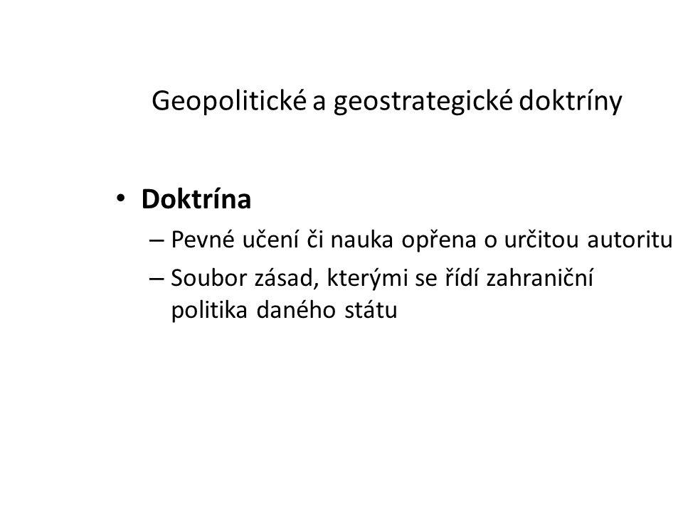 Geopolitické a geostrategické doktríny