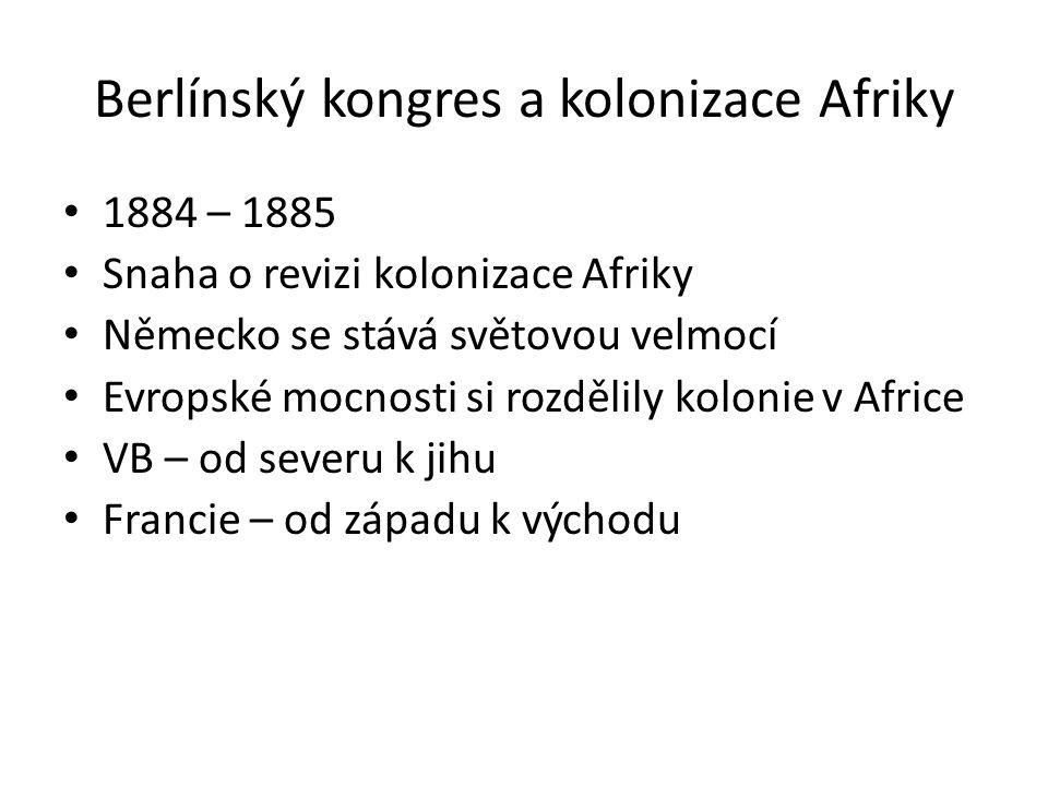 Berlínský kongres a kolonizace Afriky