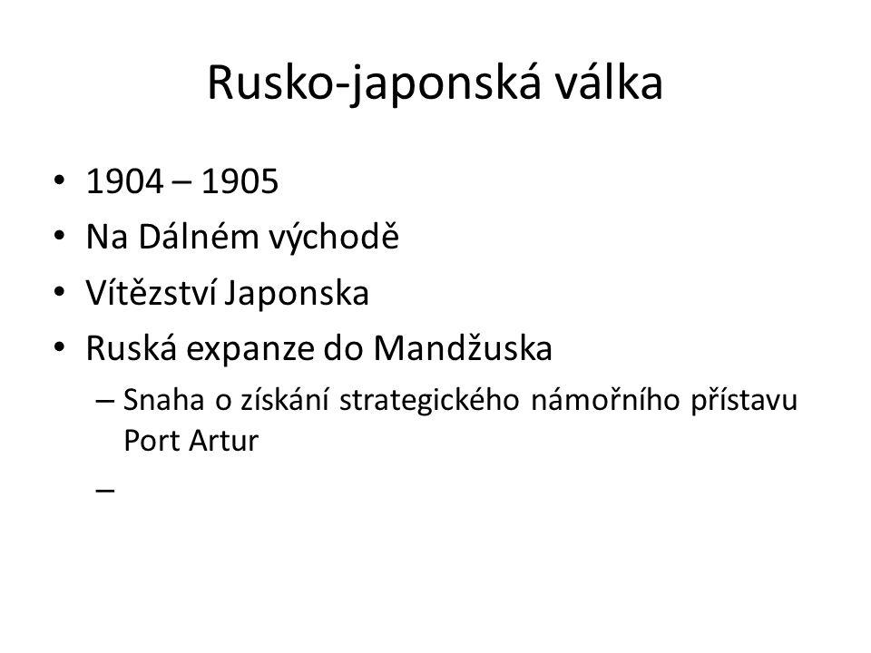 Rusko-japonská válka 1904 – 1905 Na Dálném východě Vítězství Japonska
