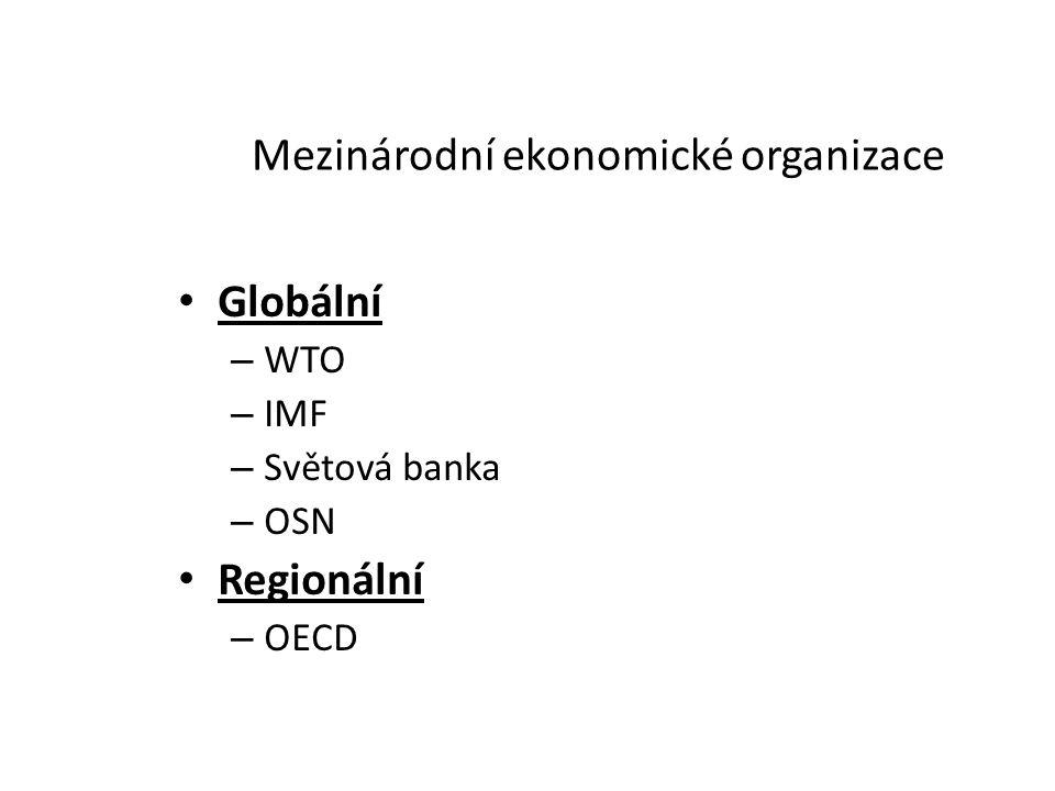 Mezinárodní ekonomické organizace