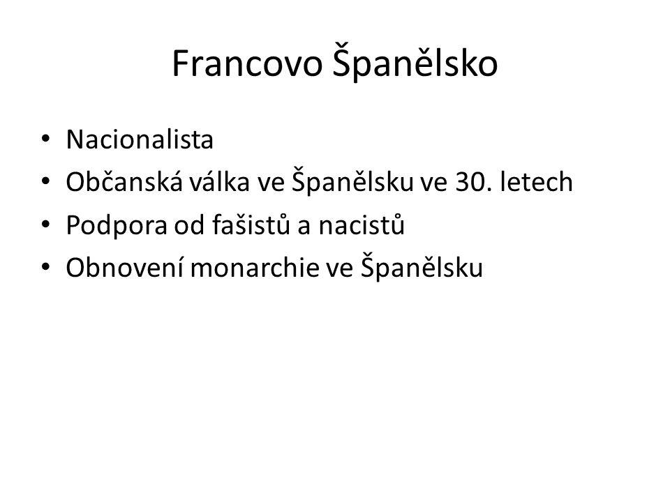 Francovo Španělsko Nacionalista