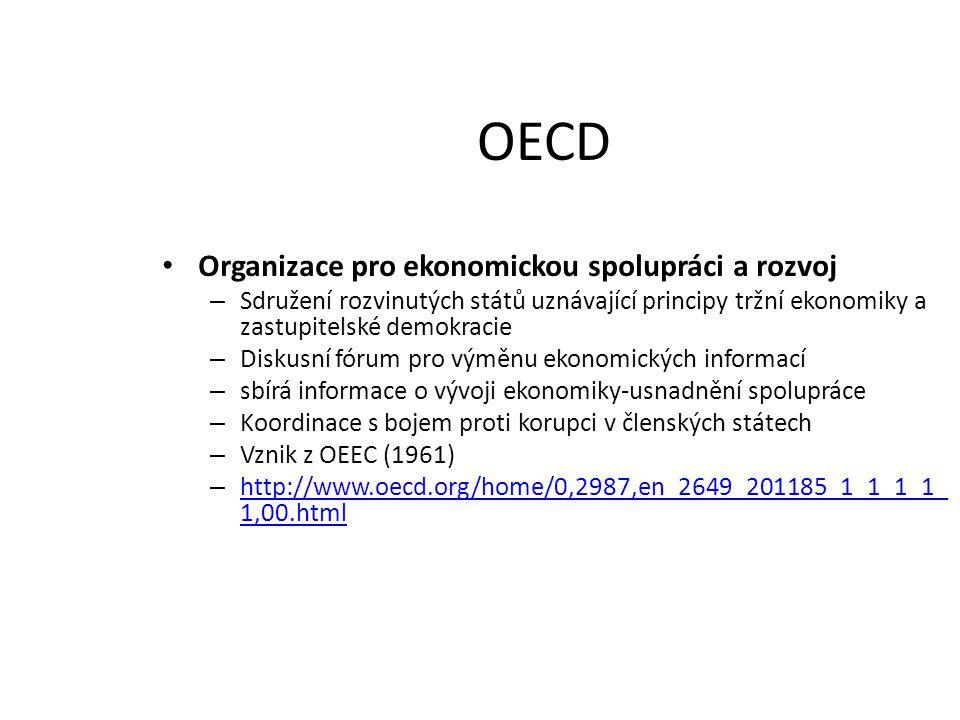OECD Organizace pro ekonomickou spolupráci a rozvoj