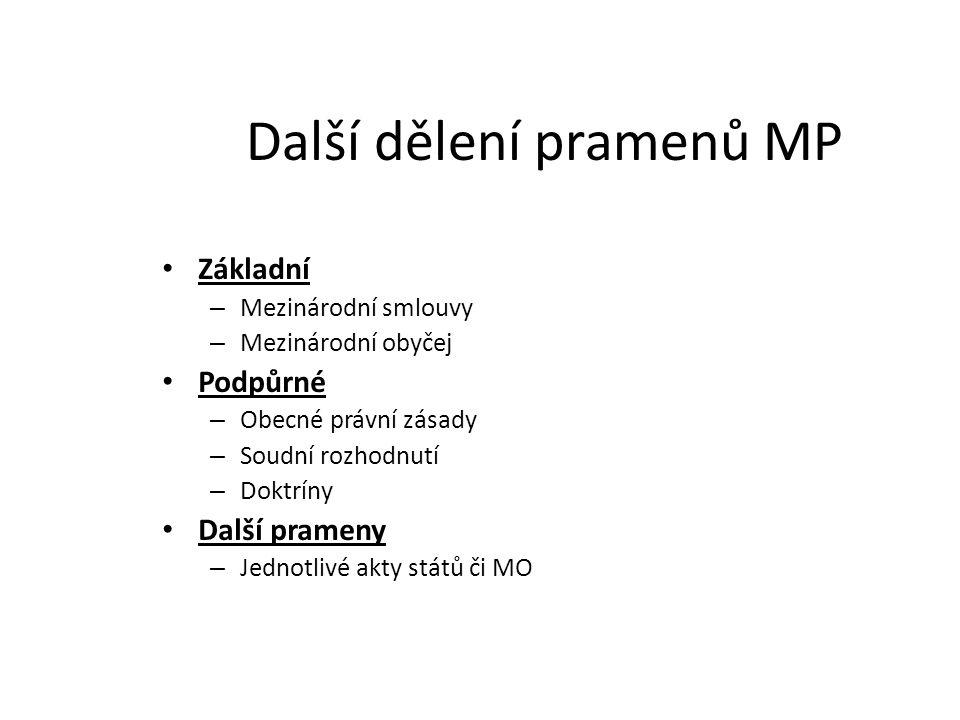 Další dělení pramenů MP