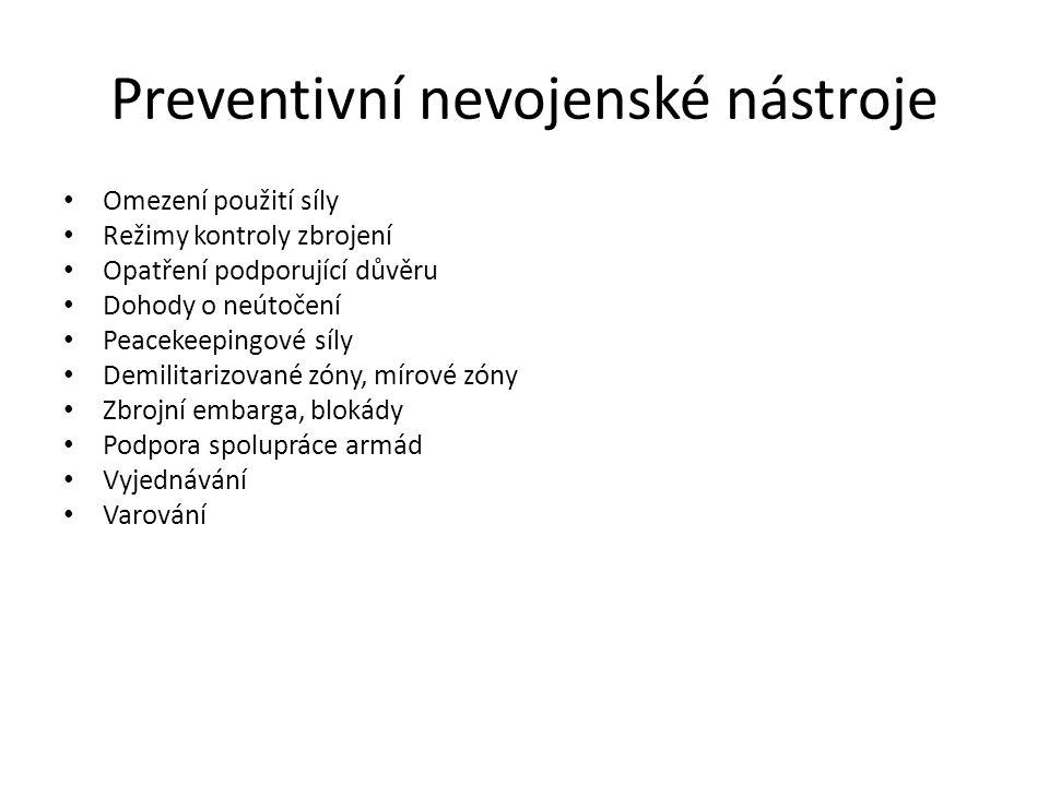 Preventivní nevojenské nástroje