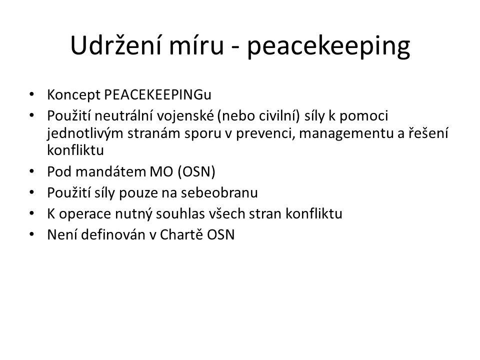 Udržení míru - peacekeeping