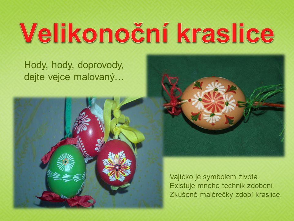 Velikonoční kraslice Hody, hody, doprovody, dejte vejce malovaný…