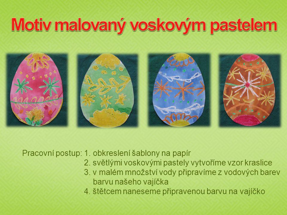 Motiv malovaný voskovým pastelem