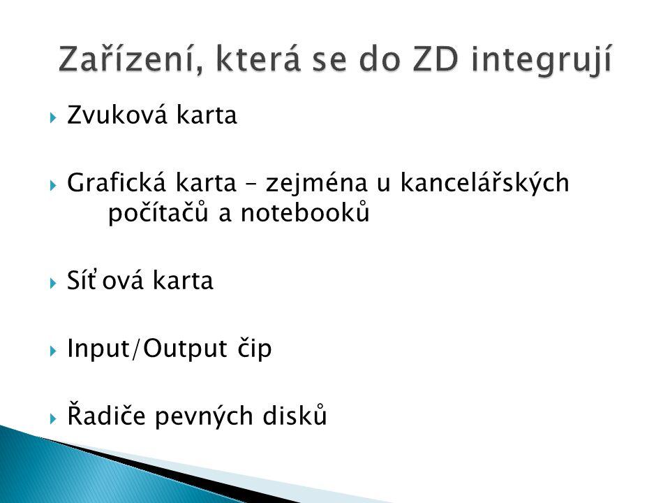 Zařízení, která se do ZD integrují
