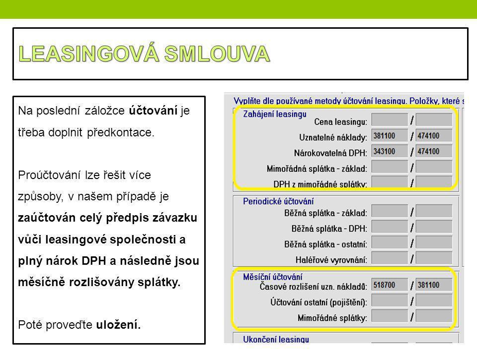 LEASINGOVÁ SMLOUVA