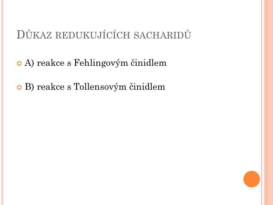 Důkaz redukujících sacharidů