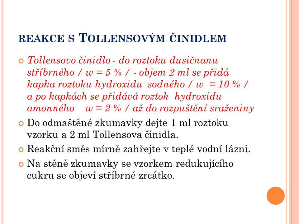 reakce s Tollensovým činidlem