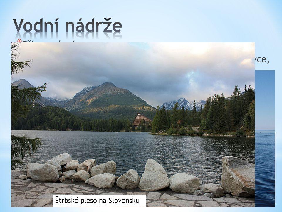 Vodní nádrže Přirozené – jezera