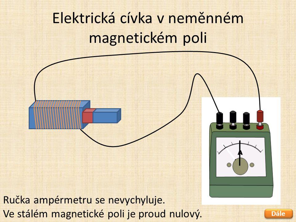 Elektrická cívka v neměnném magnetickém poli