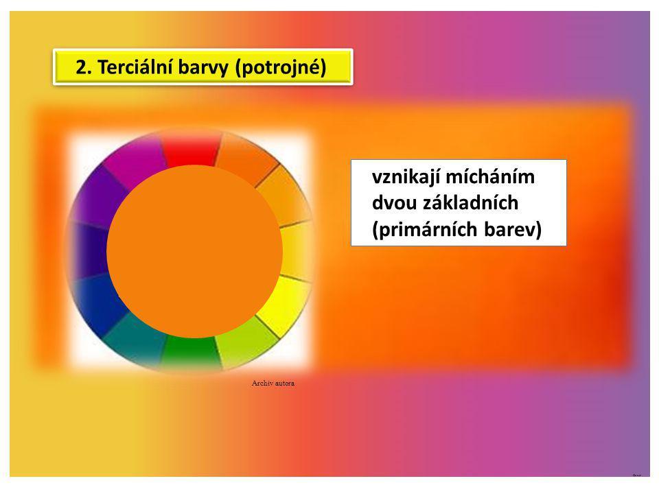 2. Terciální barvy (potrojné)
