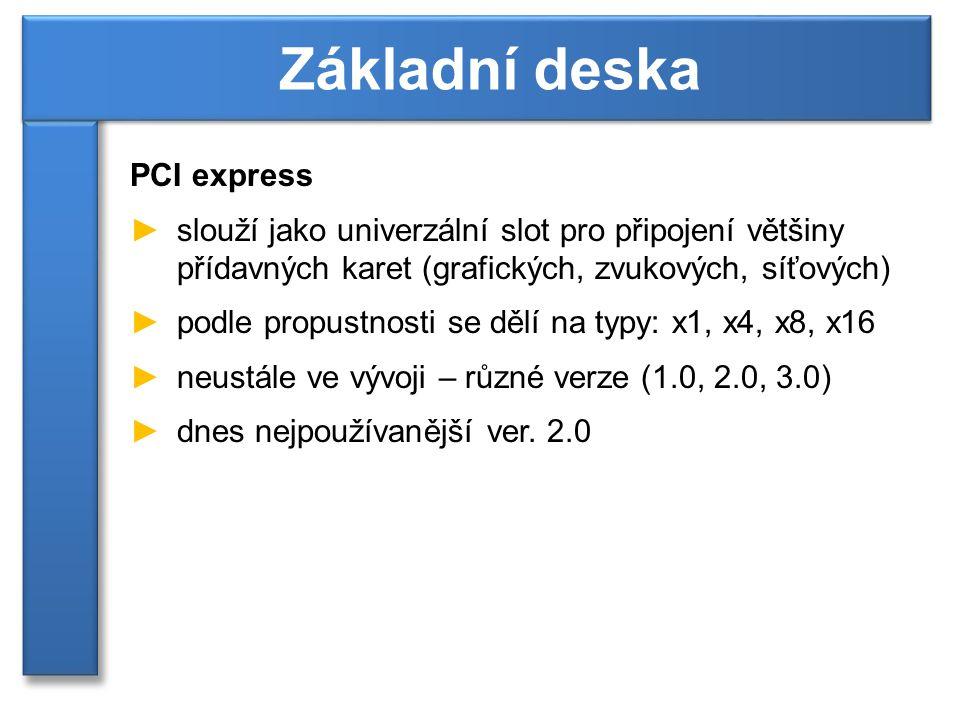 Základní deska PCI express