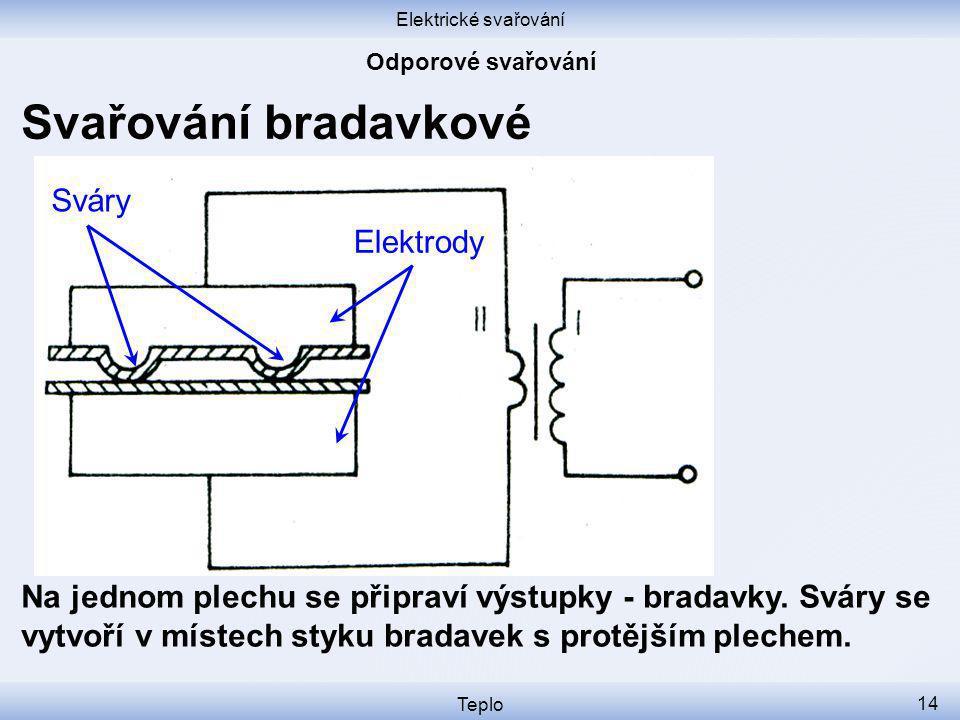 Svařování bradavkové Sváry Elektrody