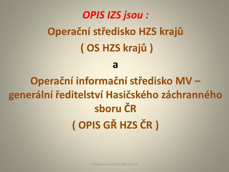 Operační středisko HZS krajů