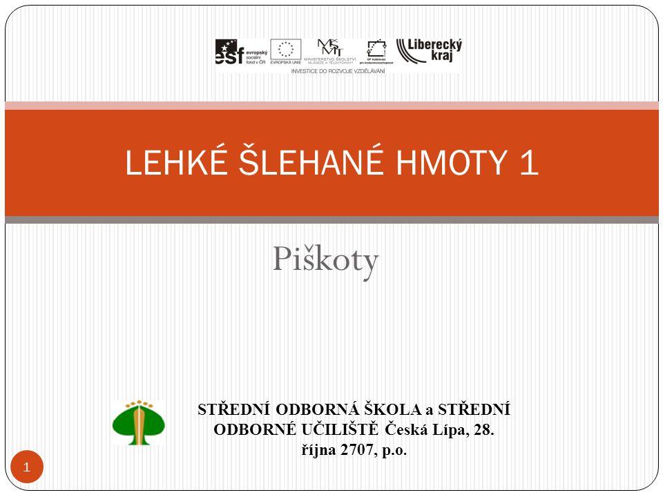 Piškoty LEHKÉ ŠLEHANÉ HMOTY 1
