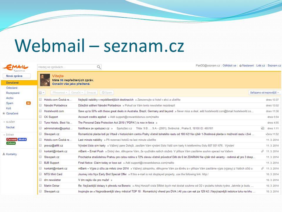 Webmail – seznam.cz