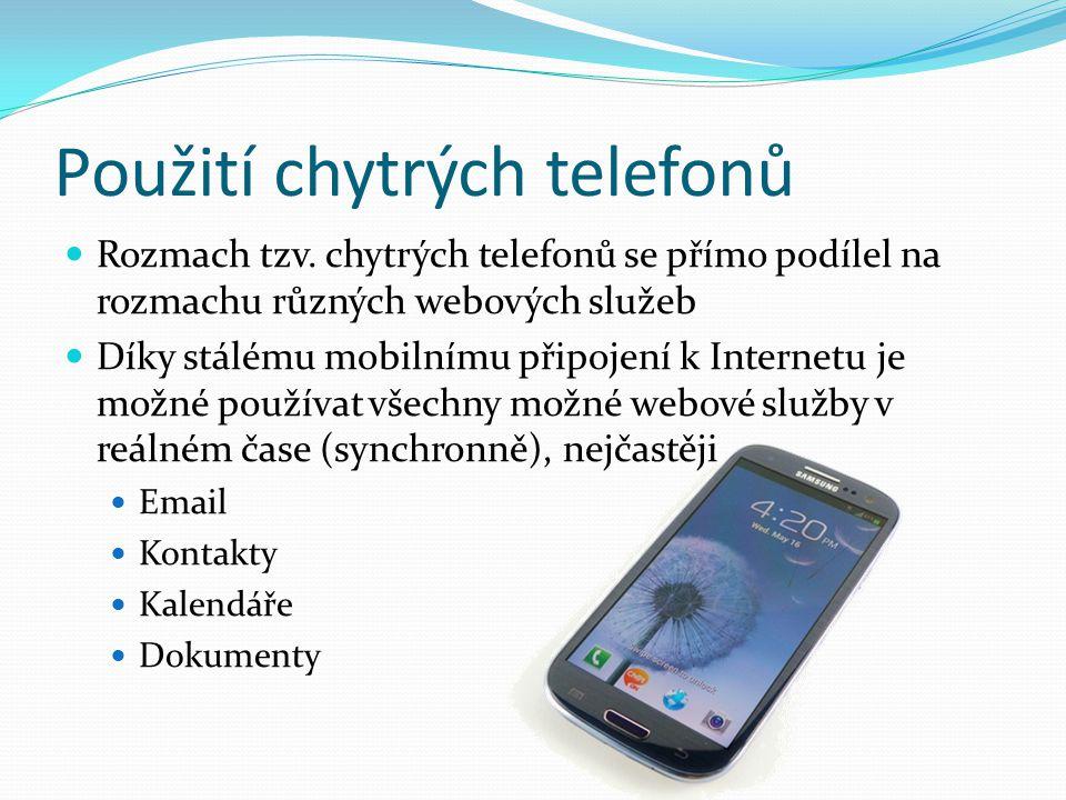 Použití chytrých telefonů