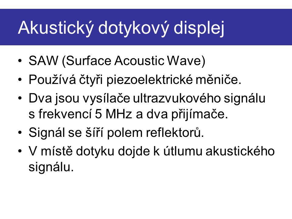 Akustický dotykový displej