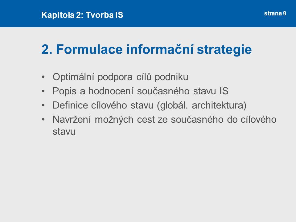 2. Formulace informační strategie