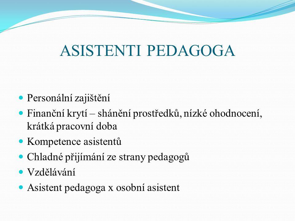 ASISTENTI PEDAGOGA Personální zajištění