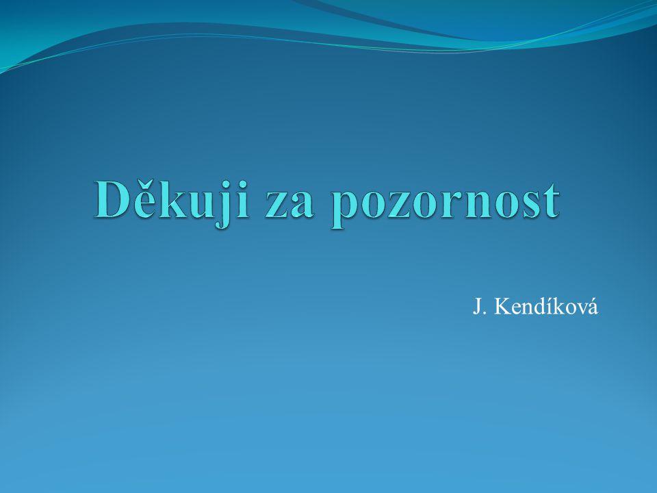Děkuji za pozornost J. Kendíková