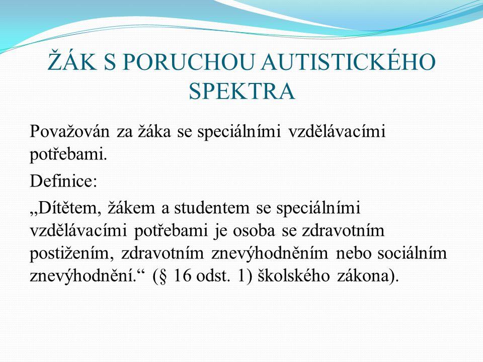 ŽÁK S PORUCHOU AUTISTICKÉHO SPEKTRA