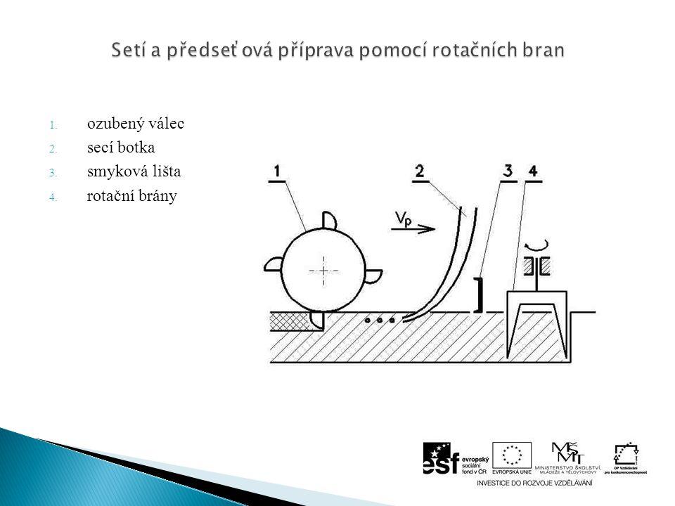 Setí a předseťová příprava pomocí rotačních bran
