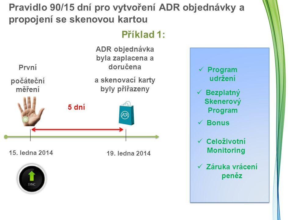 Pravidlo 90/15 dní pro vytvoření ADR objednávky a propojení se skenovou kartou