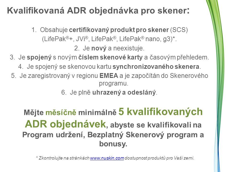Kvalifikovaná ADR objednávka pro skener: