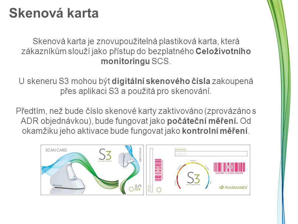 Skenová karta Skenová karta je znovupoužitelná plastiková karta, která zákazníkům slouží jako přístup do bezplatného Celoživotního monitoringu SCS.