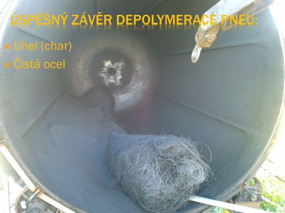 Úspěšný závěr depolymerace pneu:
