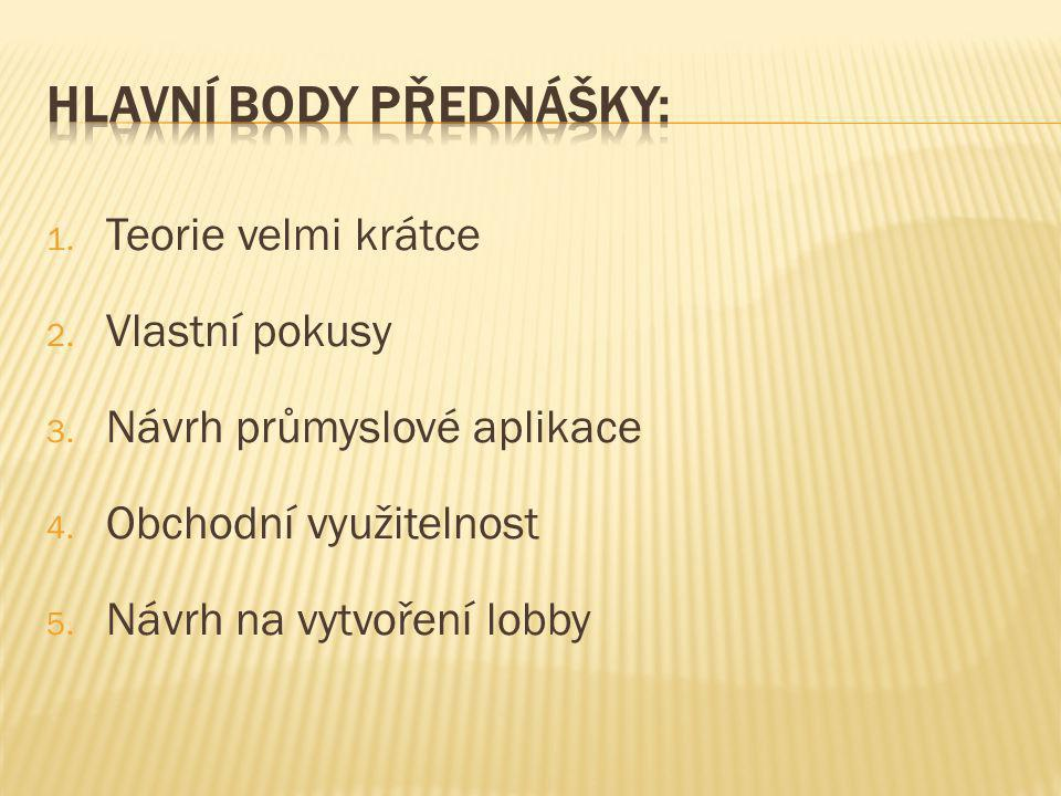 Hlavní body přednášky: